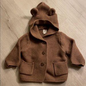 Brown babyGap bear sweater